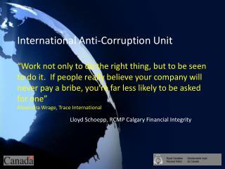 Lloyd  Schoepp , RCMP Calgary Financial Integrity