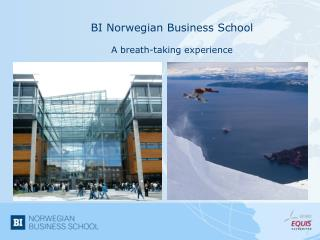 BI  Norwegian  Business  School A  breath-taking experience