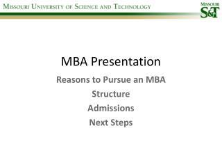 MBA Presentation