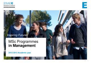MSc Programmes in Management