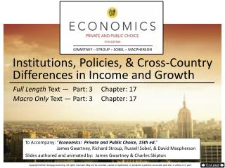 Institutions, Policies, & Cross-Country Differences in Income and Growth