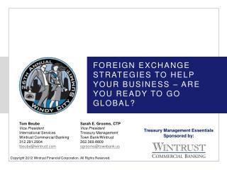 Foreign Exchange Strategies to help your business � are you ready to go global?