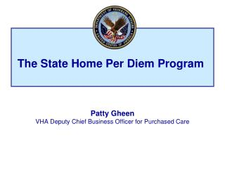 The State Home Per Diem Program