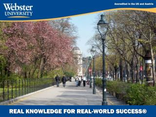 REAL KNOWLEDGE FOR REAL-WORLD SUCCESS�