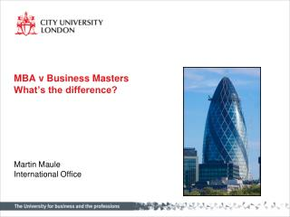 MBA v Business Masters What's the difference?