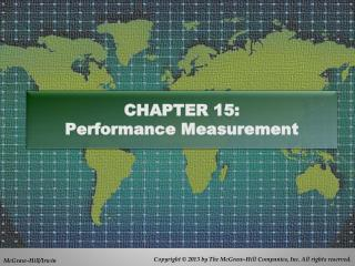 CHAPTER 15:  Performance  Measurement
