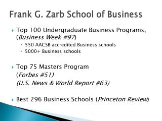 Frank G. Zarb School of Business