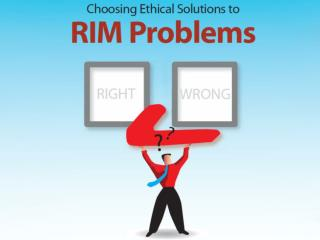 All  records and information management professionals are faced with routine decisions that
