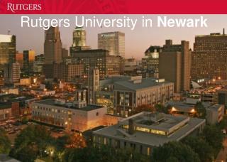 Rutgers University in  Newark