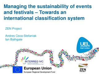 Managing the sustainability of events and festivals – Towards an international classification system
