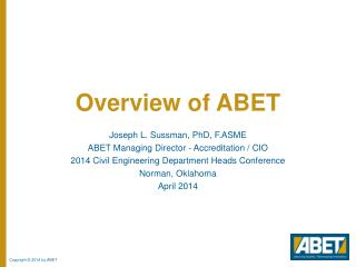 Overview of ABET