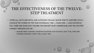 The Effectiveness of the Twelve-Step Treatment