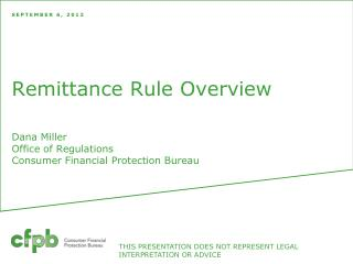 Remittance Rule Overview