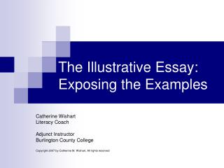 Example Of An Illustrative Essay