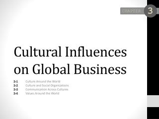 Cultural Influences on Global Business