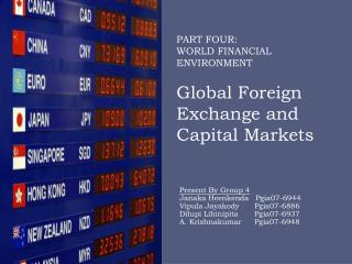 PART  FOUR:  WORLD  FINANCIAL  ENVIRONMENT Global Foreign Exchange and Capital Markets