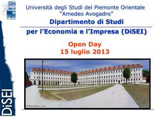 """Università degli Studi del Piemonte Orientale  """"Amedeo Avogadro"""""""