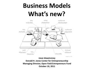 Business Models What's new?