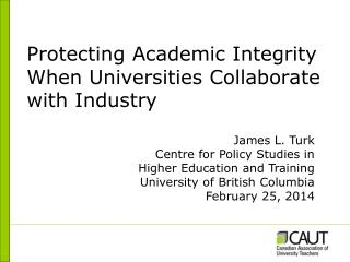 Protecting Academic Integrity When Universities Collaborate with Industry