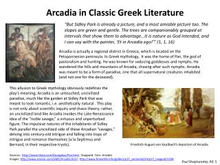 Arcadia in Classic Greek Literature