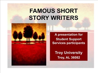 Famous Short Story Writers