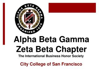 Alpha Beta Gamma Zeta Beta Chapter