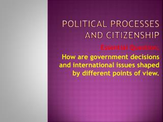 political processes and citizenship