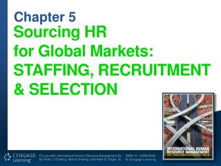 Sourcing  HR for  Global  Markets: STAFFING, RECRUITMENT & SELECTION