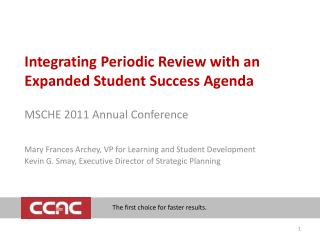 Integrating Periodic Review with an Expanded Student Success Agenda