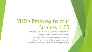 YISD's Pathway to Your Success: HB5