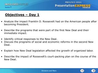 Analyze the impact Franklin D. Roosevelt had on the American people after becoming President.
