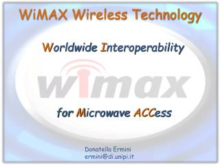 WiMAX Wireless Technology