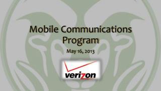 Mobile Communications Program