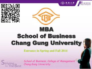 MBA School of Business Chang Gung University