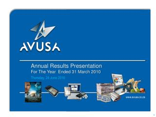 Annual Results Presentation For The Year  Ended 31 March 2010