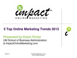5 Top Online Marketing Trends 2013
