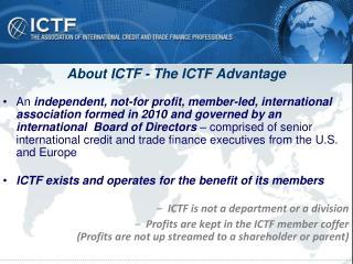 About ICTF - The ICTF Advantage