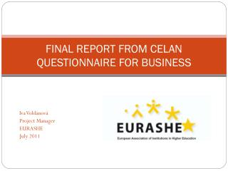 FINAL REPORT FROM CELAN  QUESTIONNAIRE FOR BUSINESS