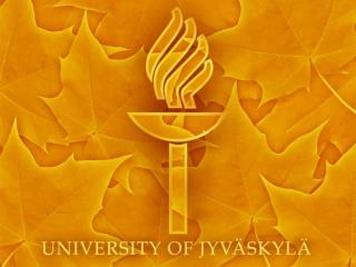Study  at the  University  of Jyväskylä