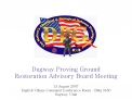 Dugway Proving Ground Restoration Advisory Board Meeting