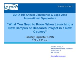 CUPA-HR Annual Conference & Expo 2012