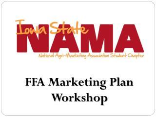 FFA Marketing Plan Workshop