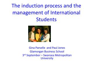 The induction process and the management of International Students