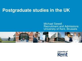 Postgraduate studies in the UK