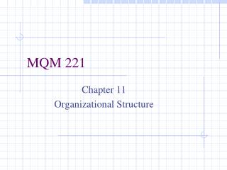 MQM 221