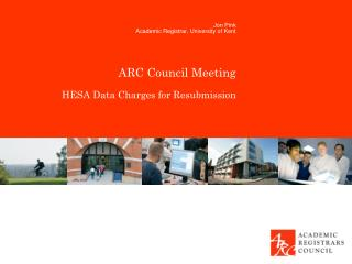 ARC Council Meeting HESA Data Charges for Resubmission