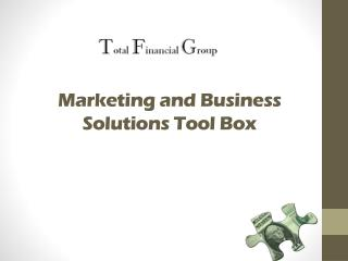 Marketing and Business Solutions Tool Box