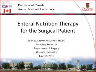 Enteral Nutrition Therapy  for the Surgical Patient
