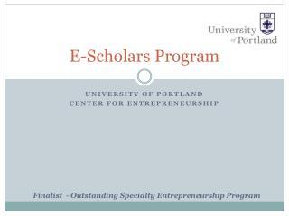 E-Scholars Program