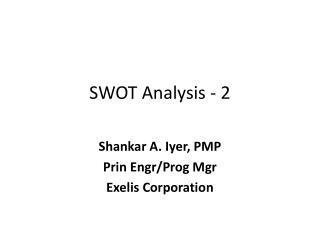 SWOT Analysis - 2